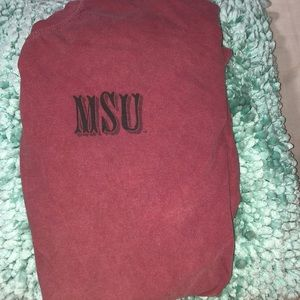 Vintage MSU comfort colors shirt